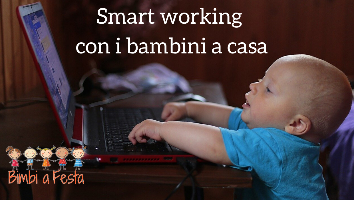 smart working con i bambini a casa