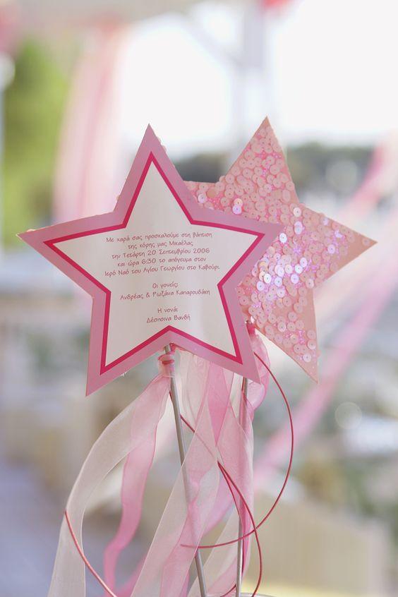 biglietto di invito festa compleanno bambine bacchetta magina