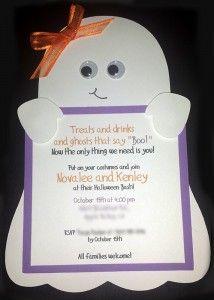 biglietto di invito festa compleanno Halloween