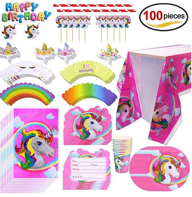 allestimento festa di compleanno a tema Unicorno