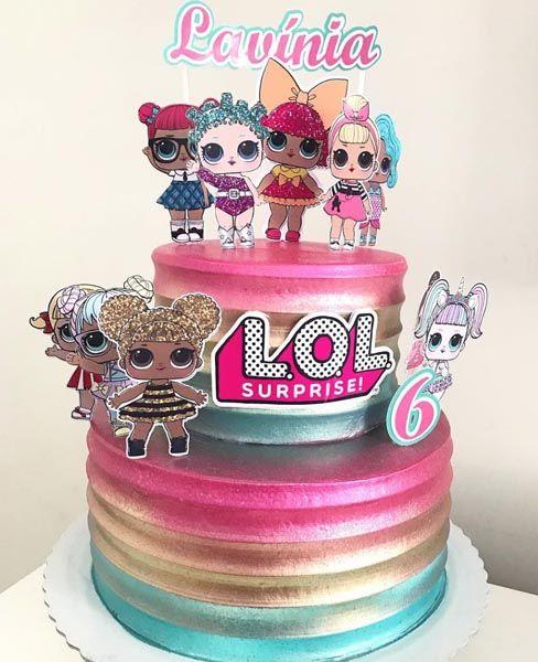 torta per la festa di compleanno a tema LOL Surprise