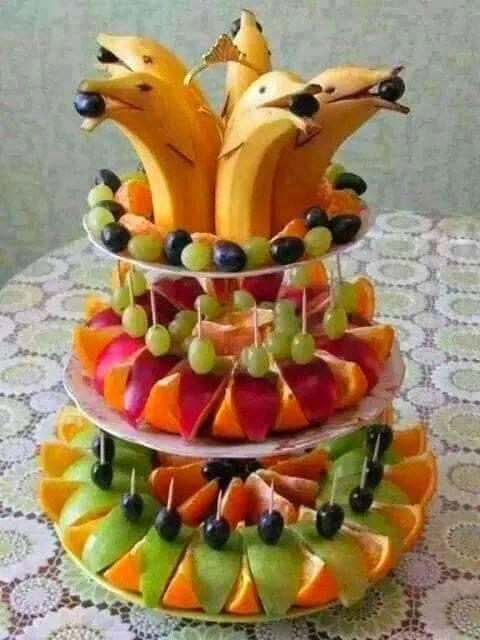 Frutta per la festa di compleanno