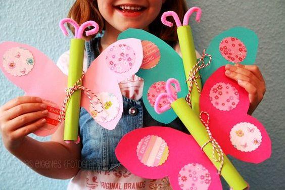 biglietto di invito festa bambine farfalla