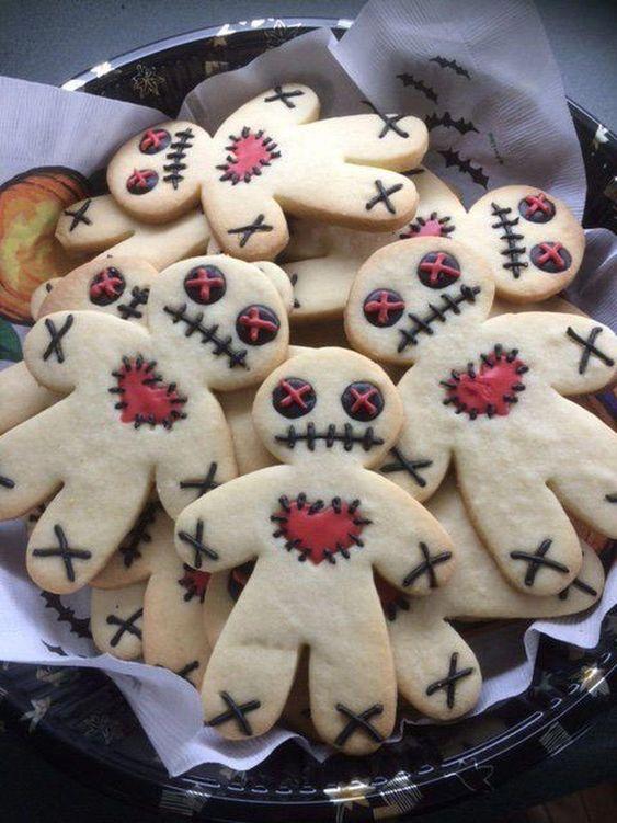 biscotti a forma di omino per Halloween
