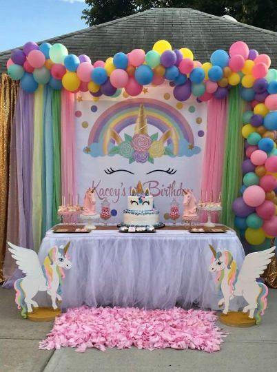decorazione festa compleanno a tema Unicorno