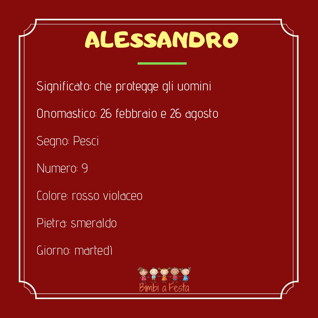 Il nome Alessandro: caratteristiche