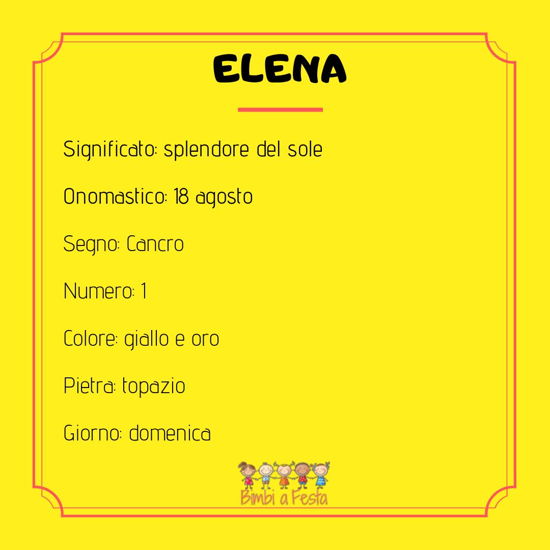 Il nome Elena: caratteristiche