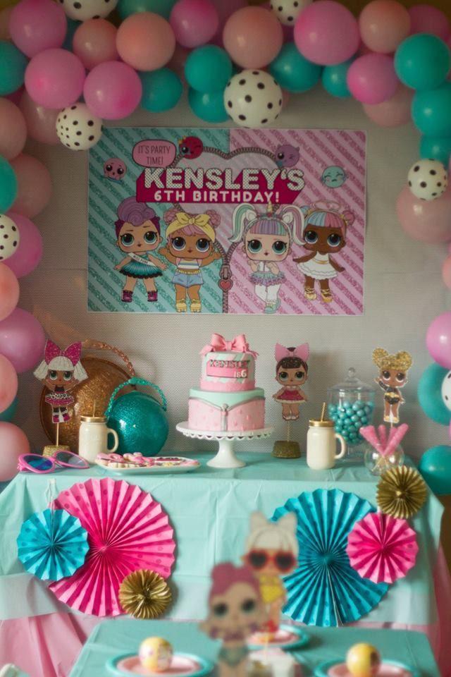 decorazione per la festa di compleanno a tema bamboline LOL