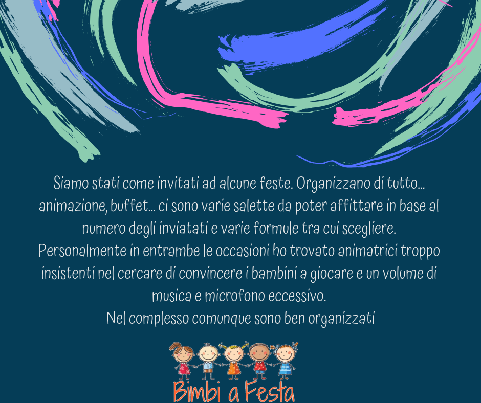 Recensione festa bambini dalla location Rc Kids Milano