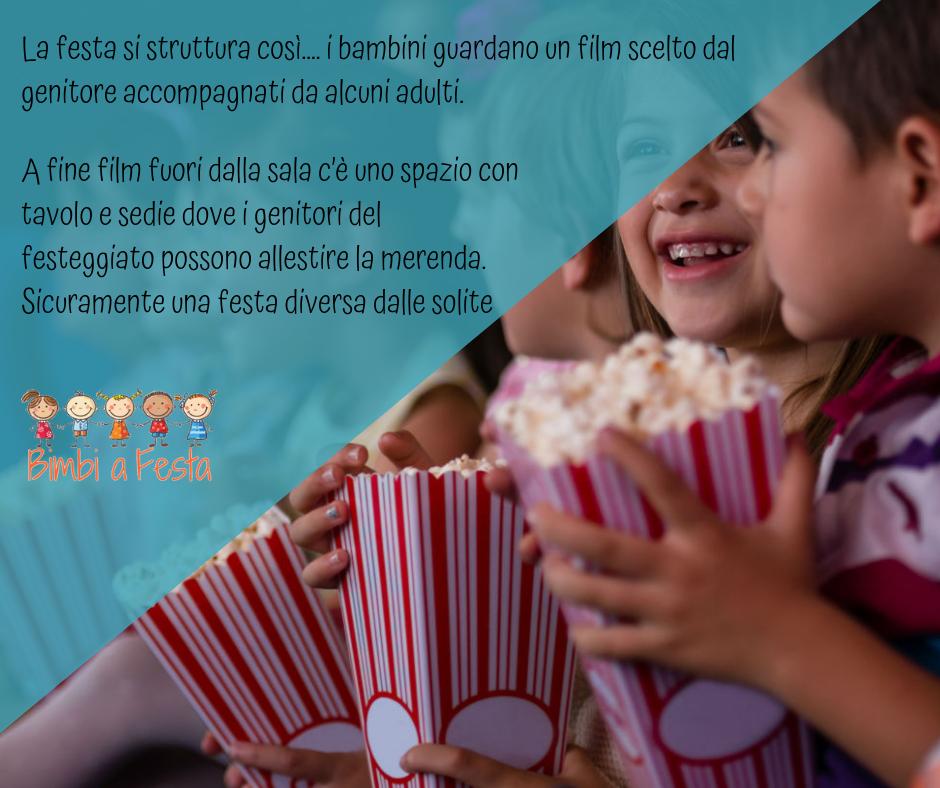 Festa di compleanno per bambini al cinema a Milano
