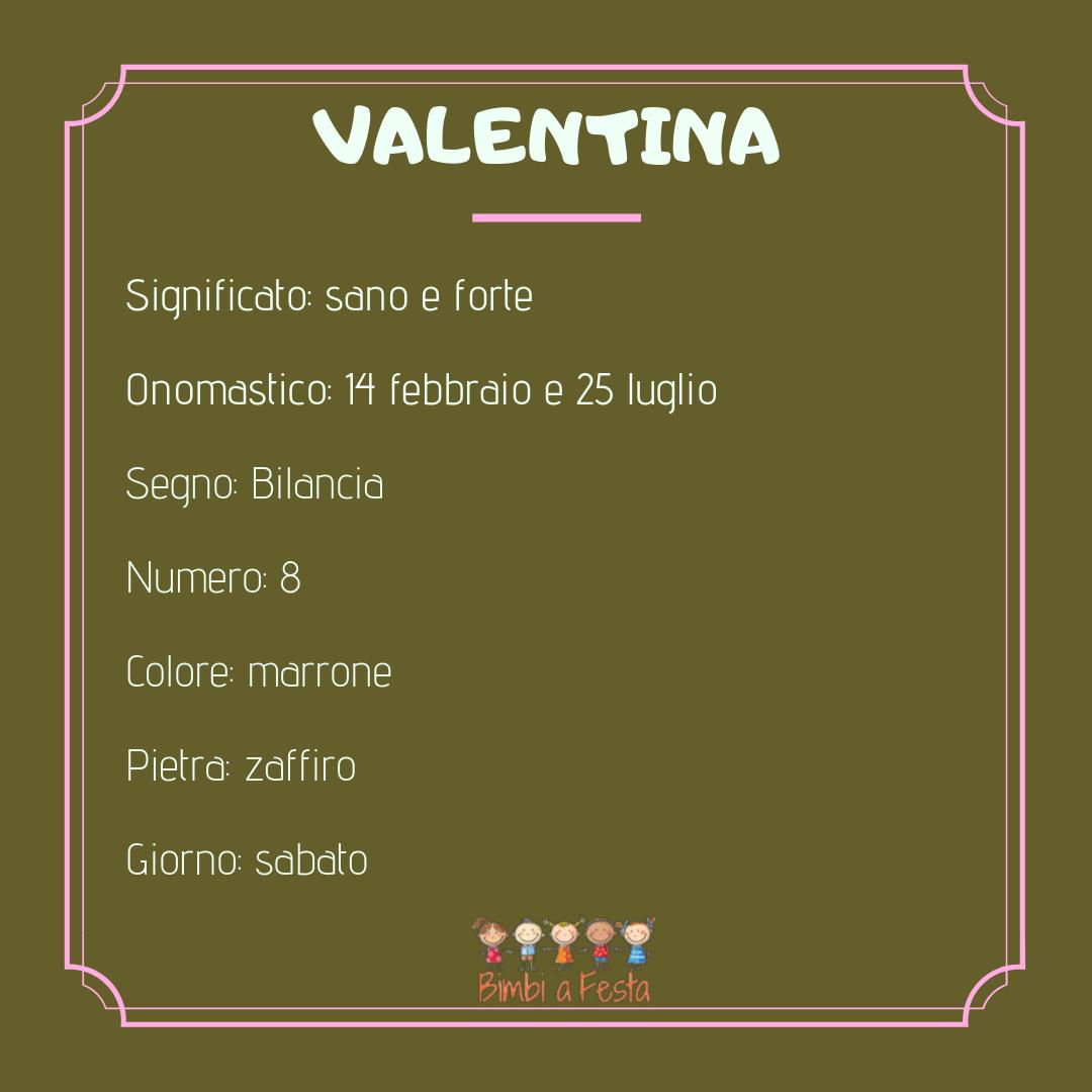 Il nome Valentina
