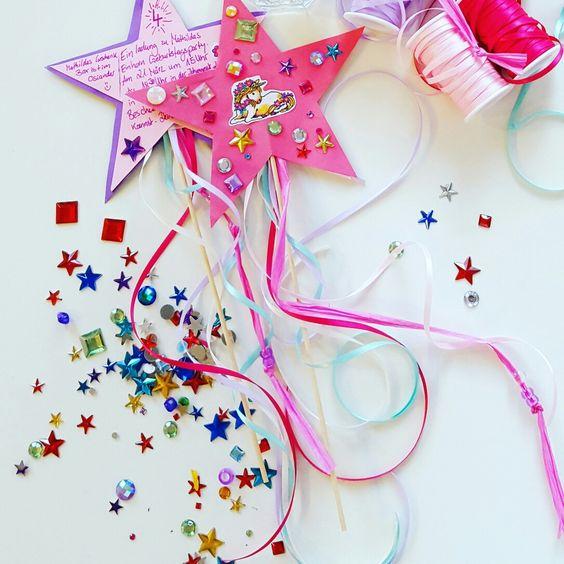 biglietto di invito festa bambine bacchetta magica