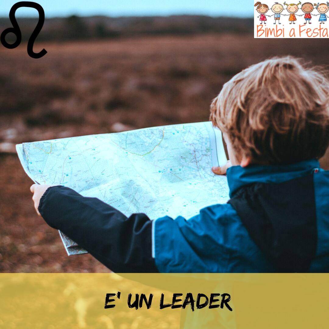 Il bambino del leone è un leader
