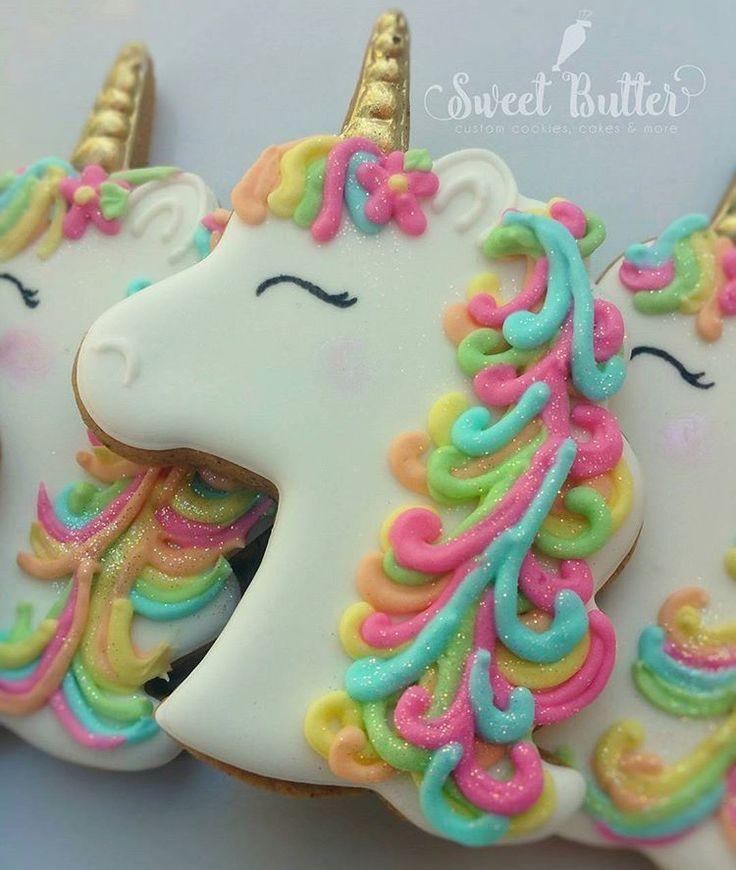 biscotto per la festa a tema Unicorno