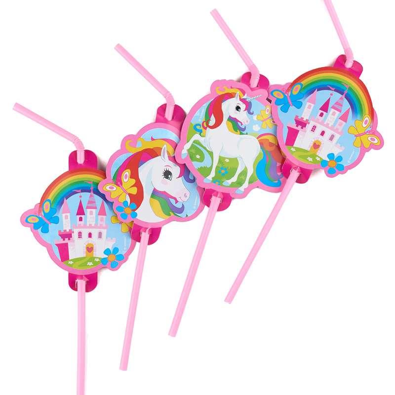 cannucce festa di compleanno a tema Unicorno