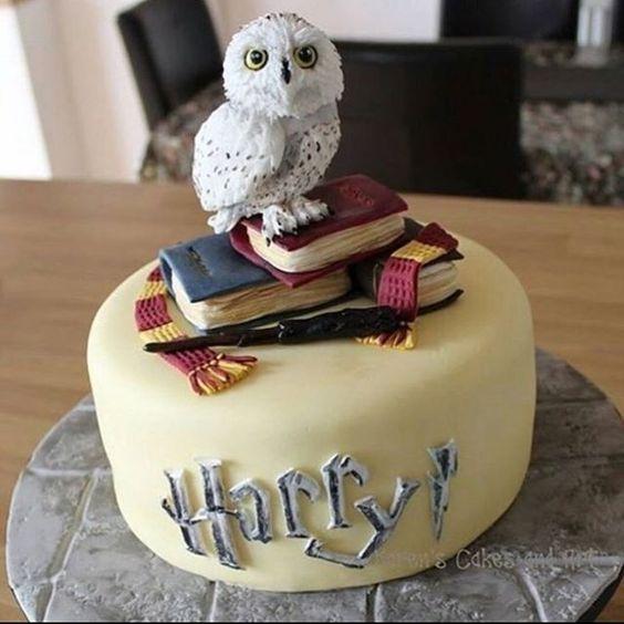 torta con gufo Harry Potter