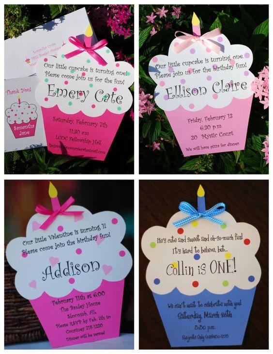 biglietto di invito festa bambini cupcake