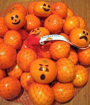 frutta decorata per Halloween