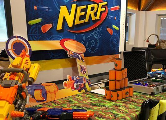Festa di compleanno Nerf organizzata dal Cappellaio Matto