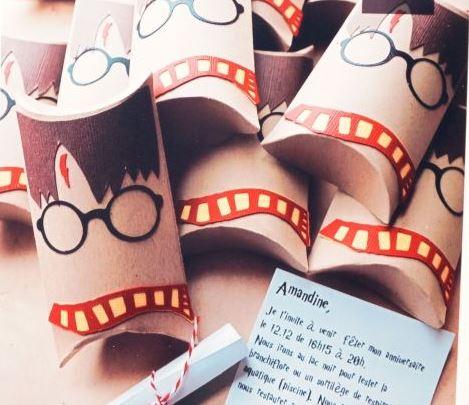 Invito fai da te festa compleanno Harry Potter