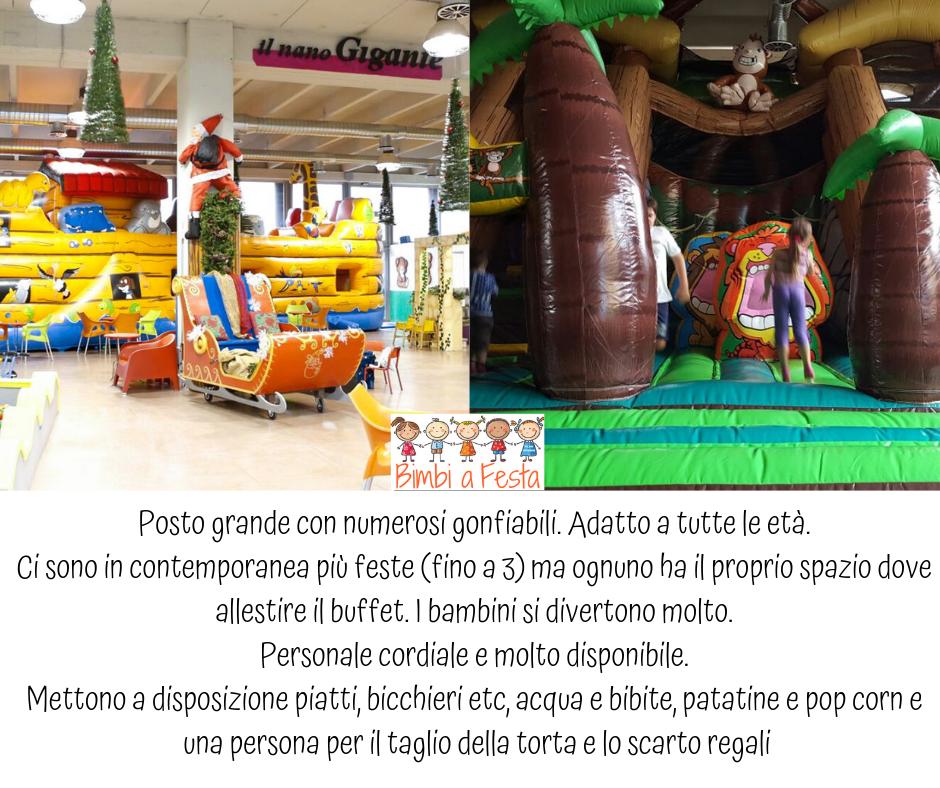 Recensione sulla festa di compleanno per bambini presso Nano Gigante