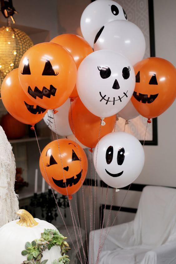 Palloncini decorati per festa Halloween