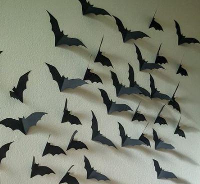 pipistrelli per allestimento location festa Halloween