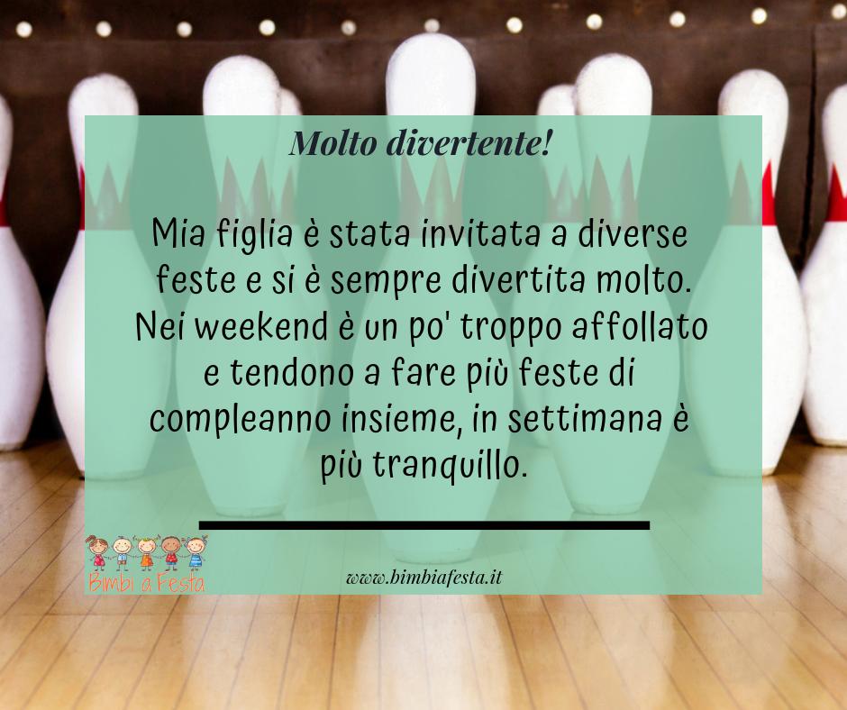 Festa di compleanno per bambini al Bowling dei Fiori di Milano
