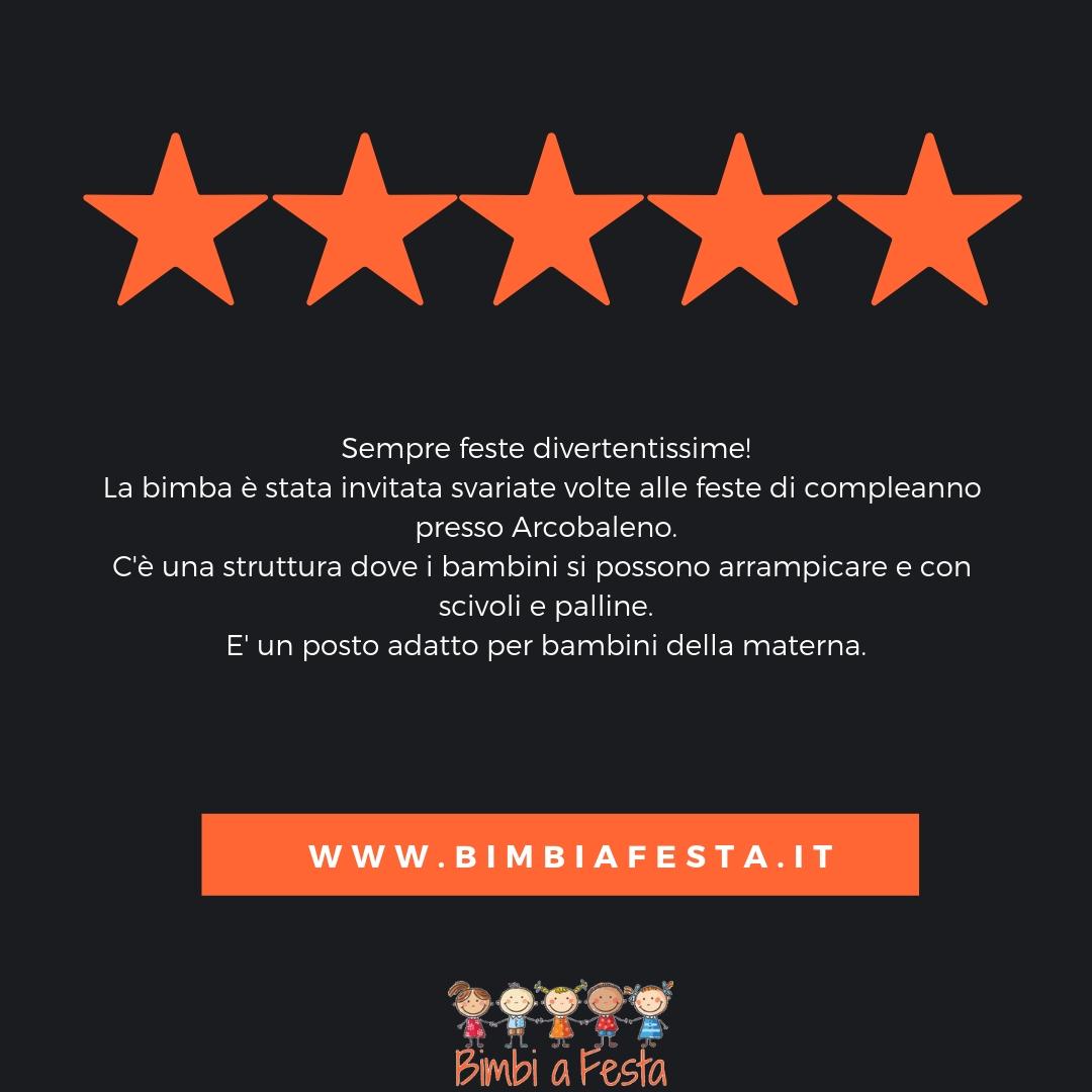 Recensione festa bambini da Arcobaleno Milano