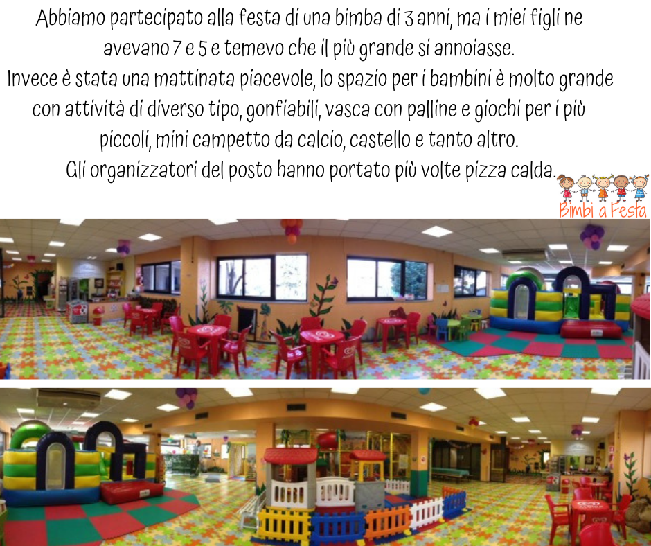 Recensione festa di compleanno bambini da Aquiloni Park