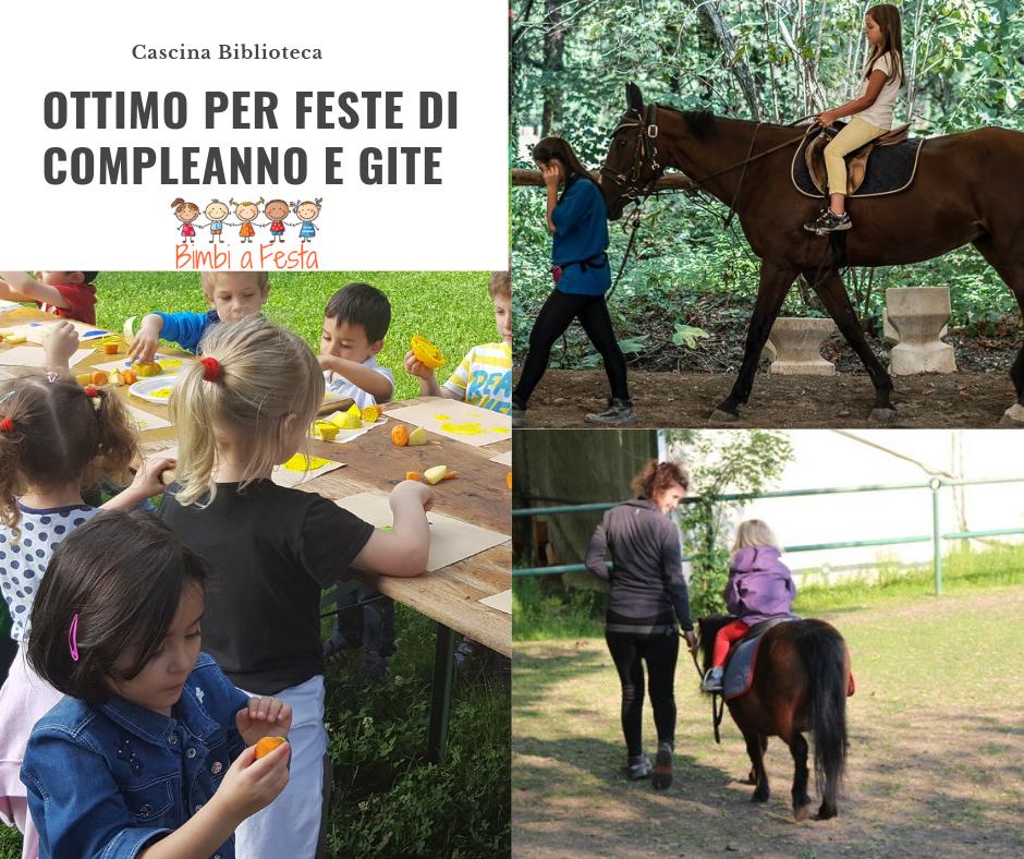 Festa di compleanno alla Cascina Biblioteca Milano