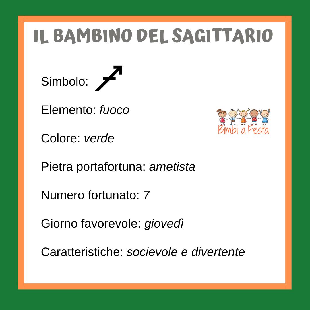 caratteristiche del bambino nato sotto il segno zodiacale del sagittario