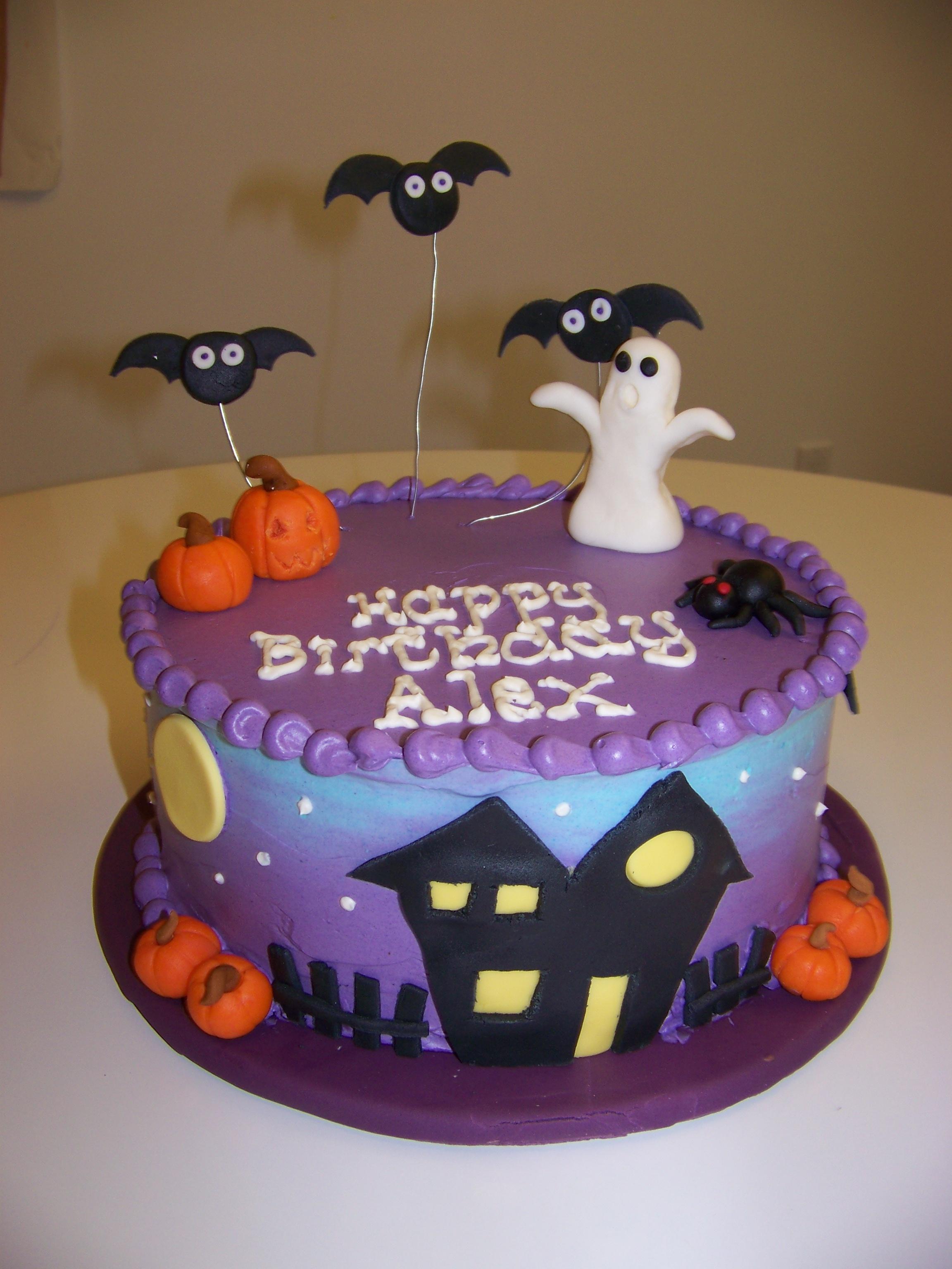 torta festa di compleanno bambini a tema Halloween