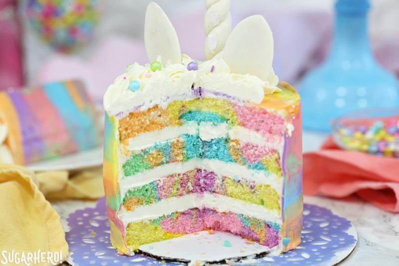 torta per festa a tema Unicorno